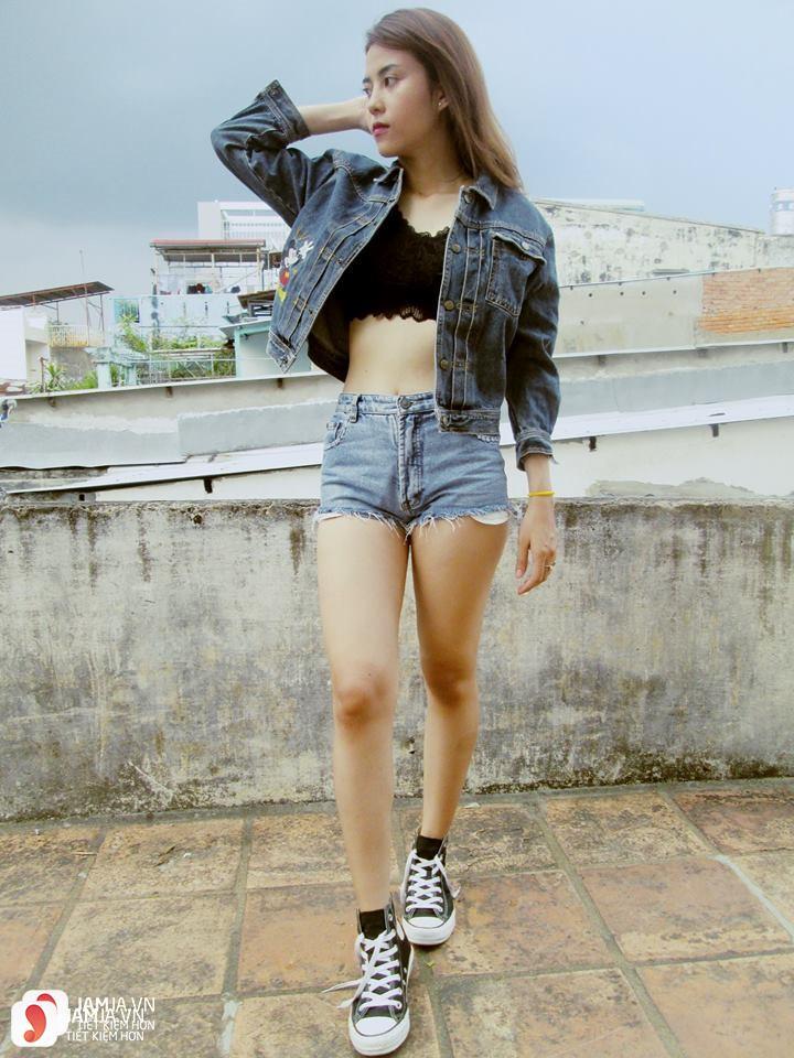 Cách phối đồ với quần jean ngắn 1