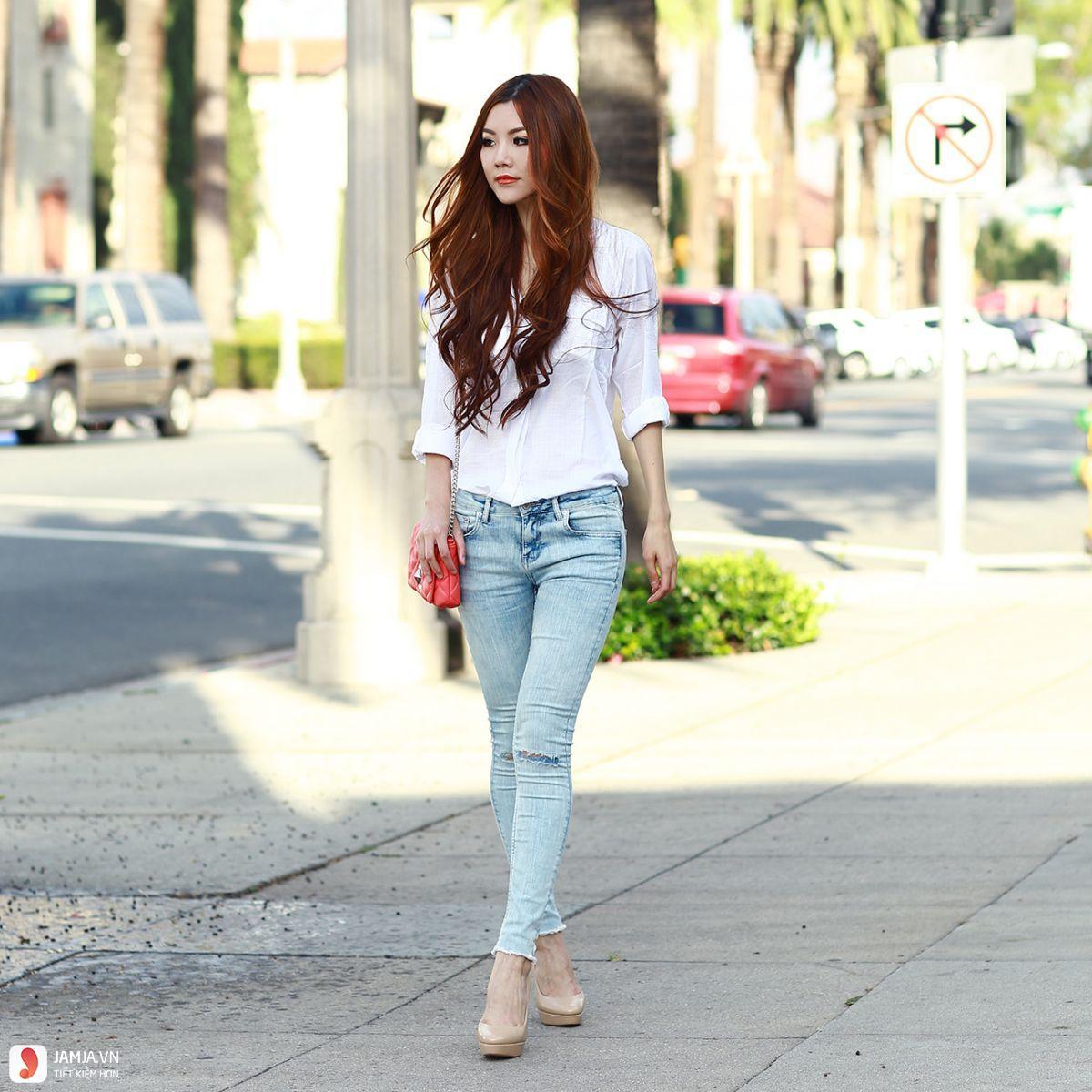 Cách phối đồ với quần jean nữ 1