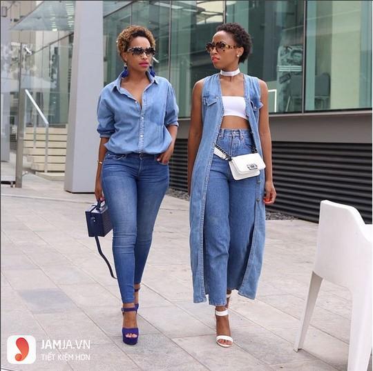 Cách phối đồ với quần jean nữ áo sơ mi 2