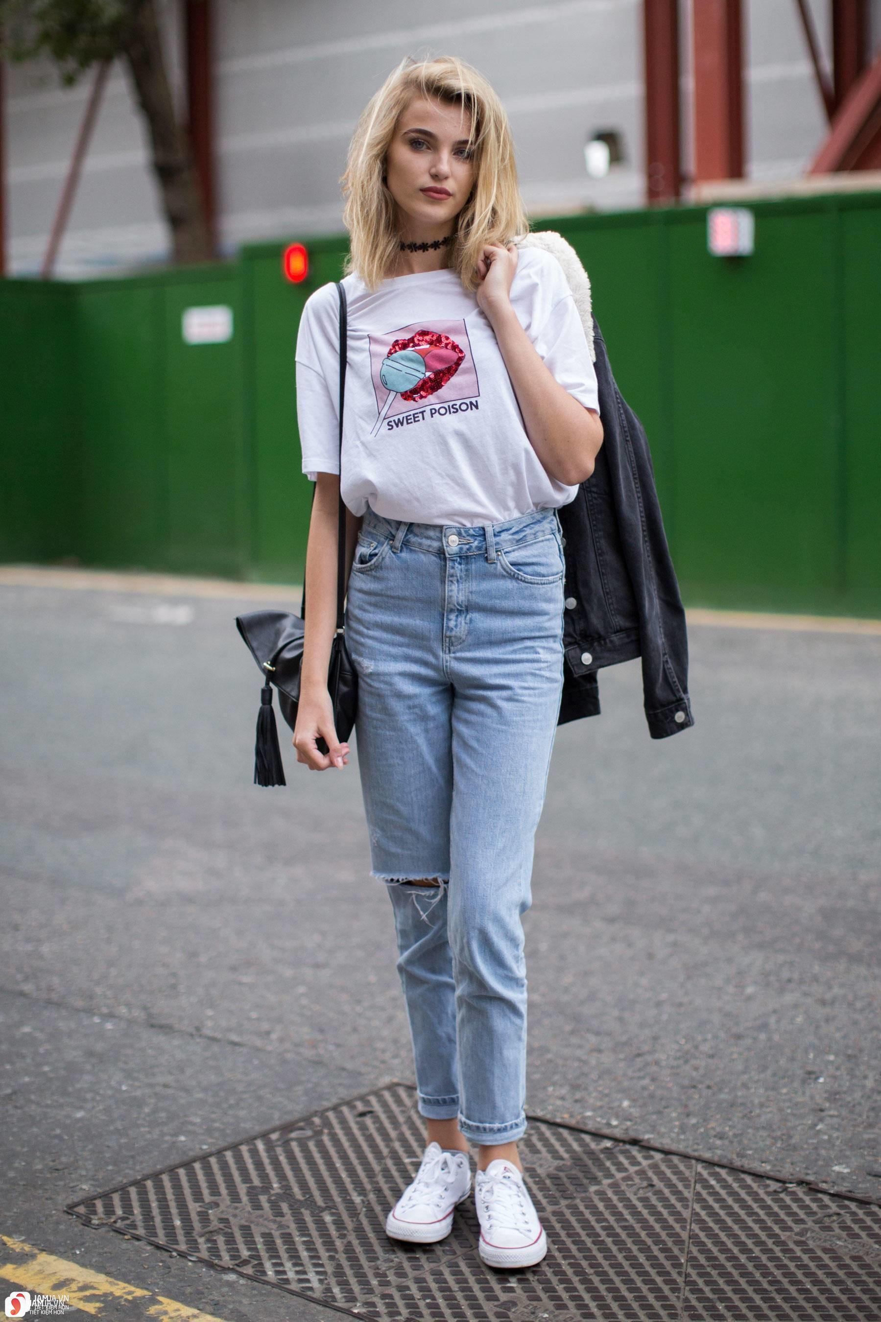 Cách phối quần jean với giày 1