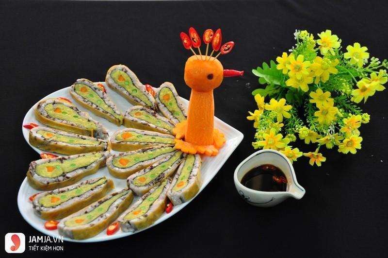 cách trang trí món ăn đãi tiệc1