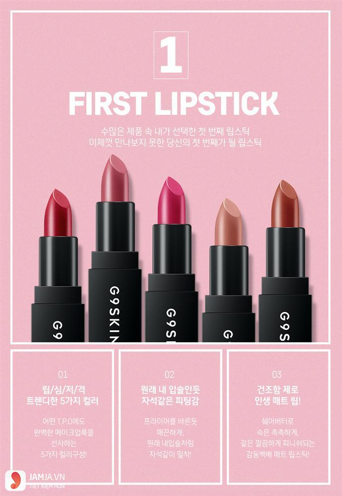 G9Skin First Lipstick review 3