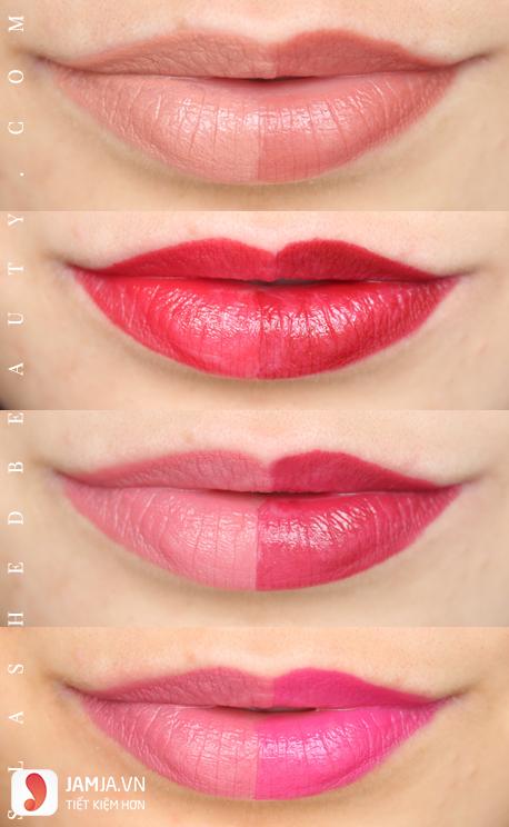 Khả năng bám màu của son ELFMoisturizing Lipstick