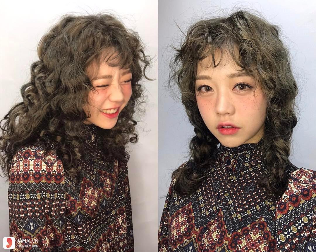 Kiểu tóc xoăn xù mì 2