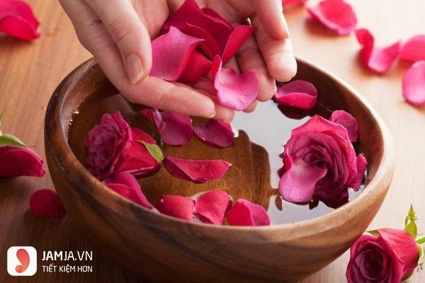 mặt nạ dưỡng môi bằng hoa hồng2