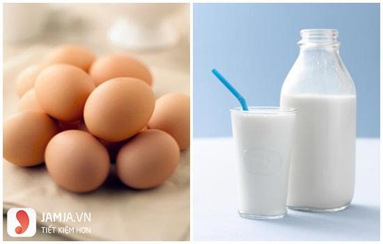 Mặt nạ lòng đỏ trứng gà với sữa tươi 1