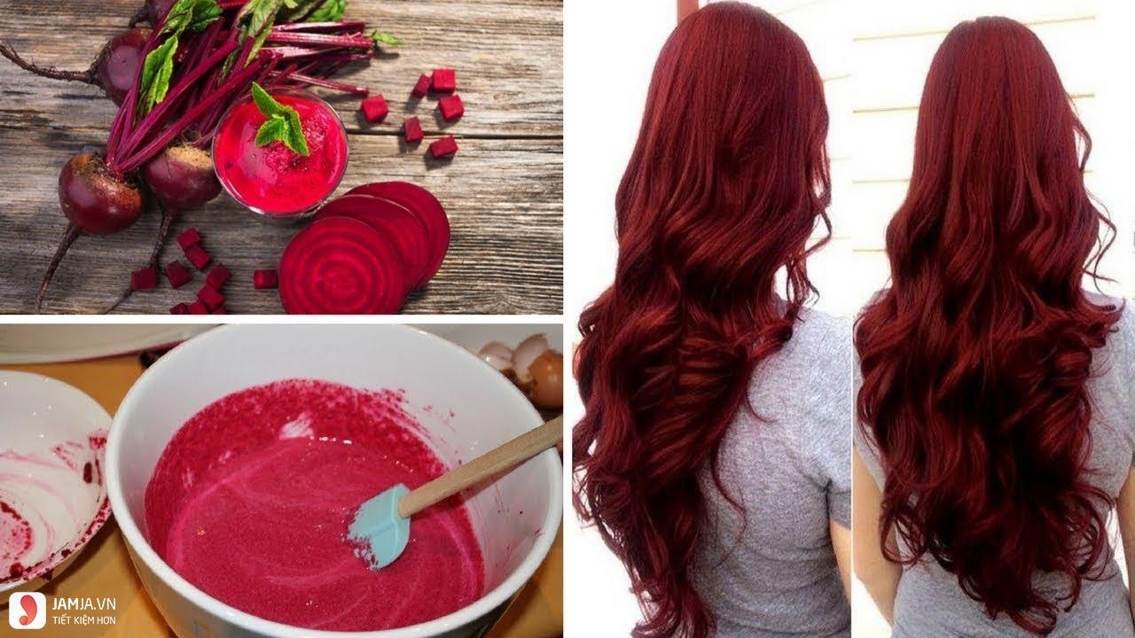 Nhuộm tóc đỏ bằng cà rốt và củ dền