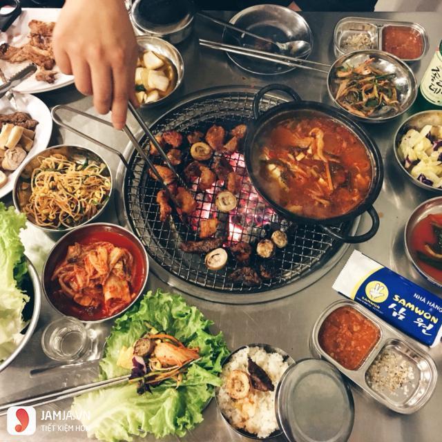 Nướng Samwon - Quán thịt nướng Hàn Quốc ngon ở Hà Nội