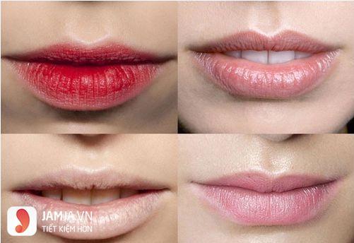 Phun môi không lên màu 1
