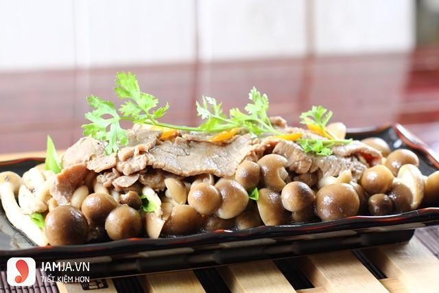 Món thịt bắp bò xào nấm hương 2