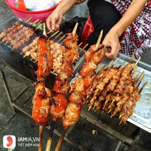 thịt xiên que nướng -món ăn vặt dễ làm để bán