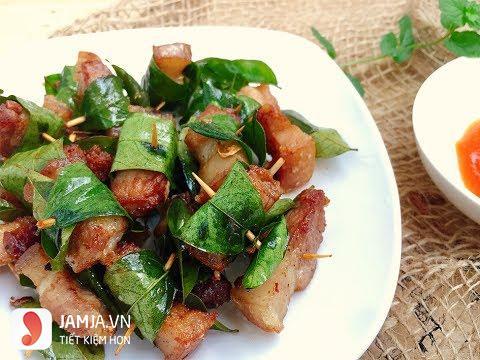 Thịt xiên rán lá móc mật - 1