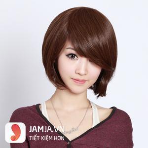 tóc ngắn ngang vai mái xéo