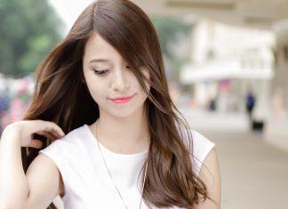 các kiểu tóc mái xéo 1