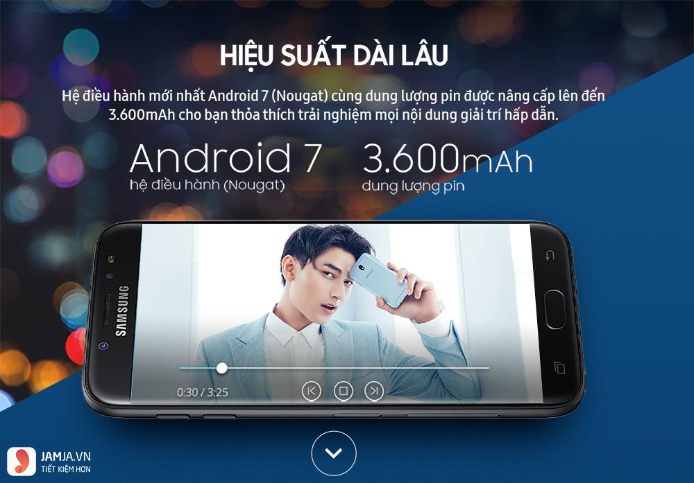 Samsung J7 pro có sạc nhanh không?