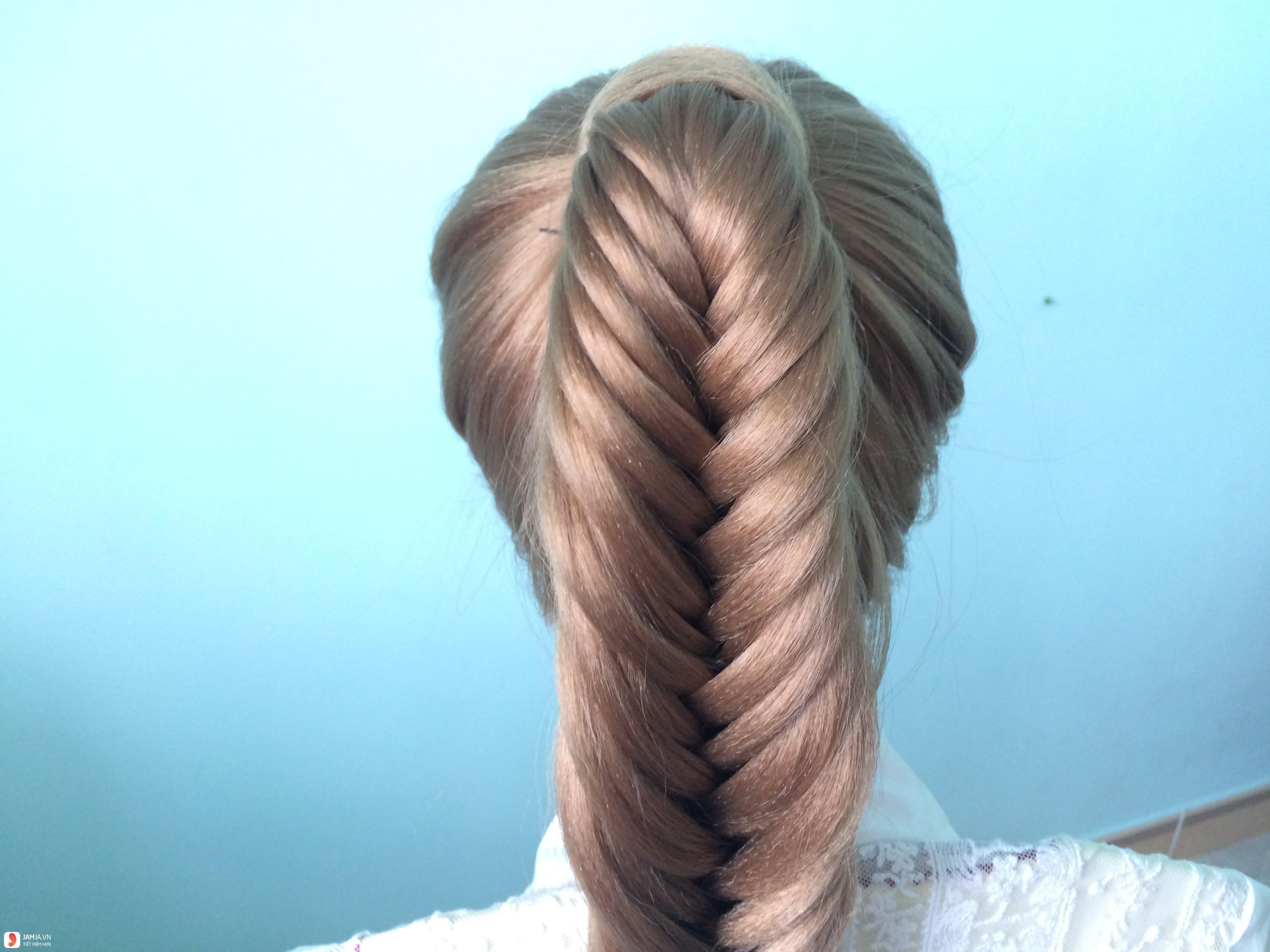 Tết tóc hình đuôi cá 2