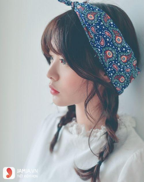 Buộc tóc với khăn Turban - 6