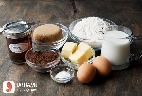 cách làm bánh rán doremon nhân socola 1