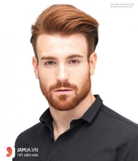 nhuộm tóc nam màu nâu hạt dẻ undercut