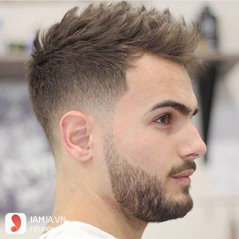 nhuộm tóc nam màu nâu hạt dẻ undercut 1