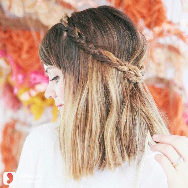 Thắt tóc cho tóc ngắn - 5