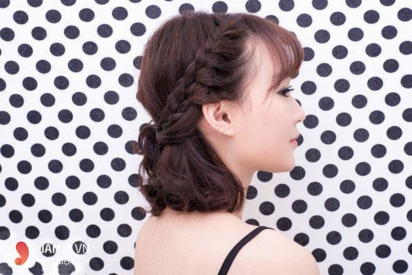 Thắt tóc cho tóc ngắn - 7