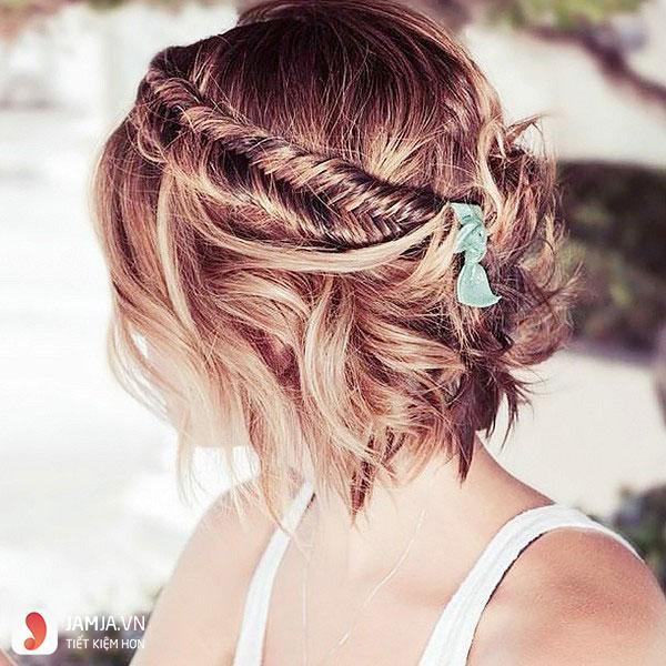 Thắt tóc cho tóc ngắn - 8