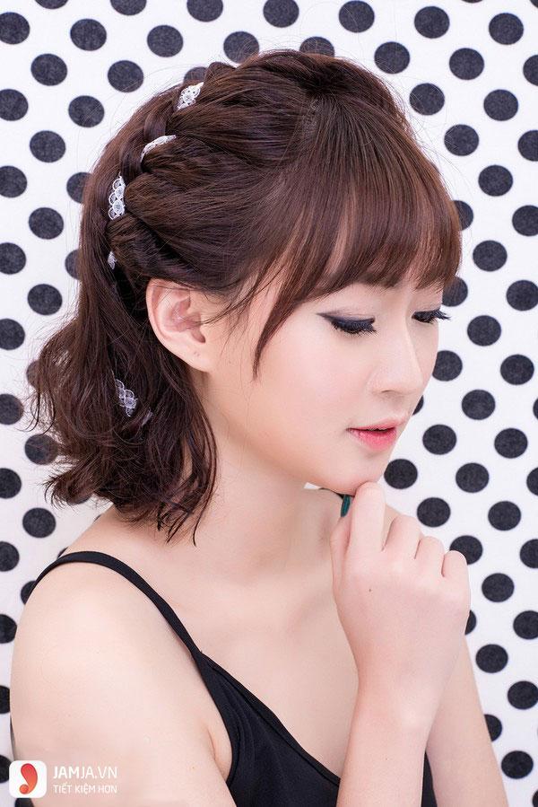 Thắt tóc cho tóc ngắn - 9