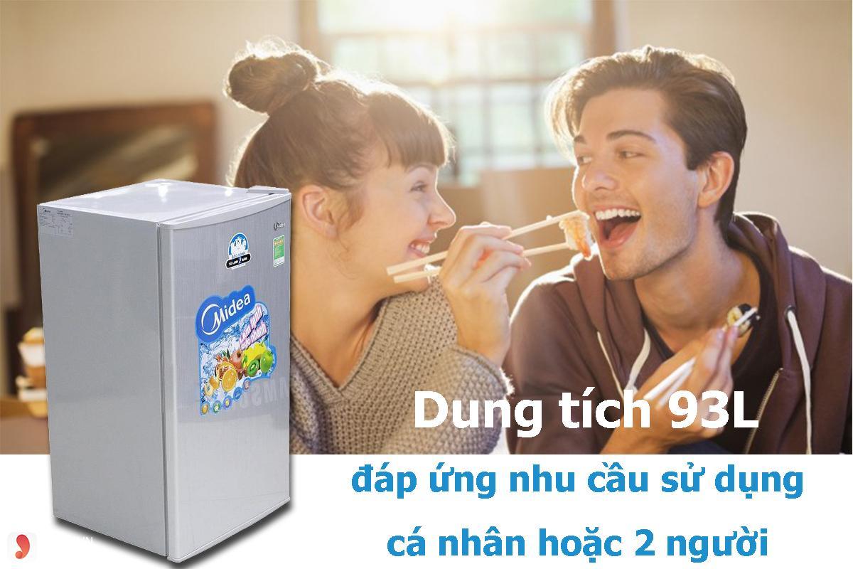 Tủ lạnh giá rẻ dưới 3 triệu Midea HS-122SN