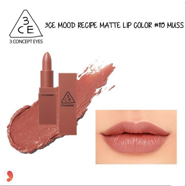 3CE Mood Recipe Matte Lip Color 2016- No 115 Muse 1
