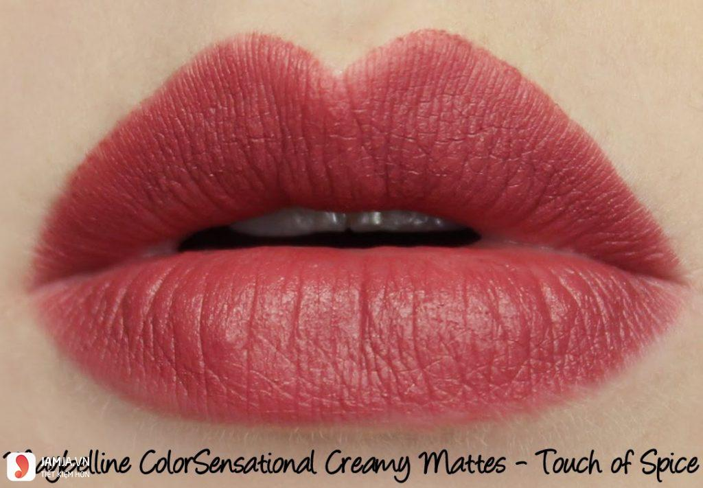 Maybelline Creamy Matte– Touch of spice 2