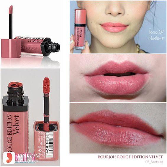 Review sonkem Bourjois Rouge Edition Velvet màu 07