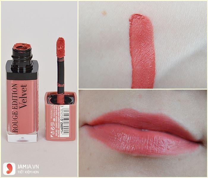 Review sonkem Bourjois Rouge Edition Velvet màu 09
