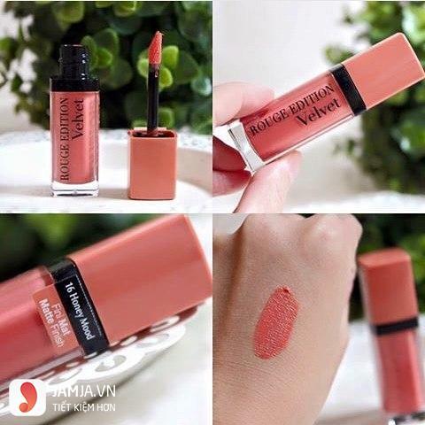 Review sonkem Bourjois Rouge Edition Velvet màu 16