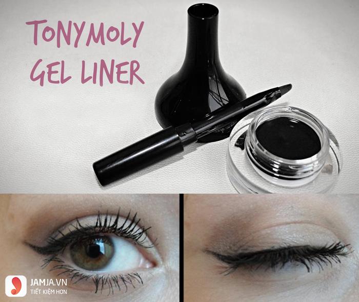 Cách sử dụnggel kẻ mắt Tonymoly Backstage Gel Eyeliner 4