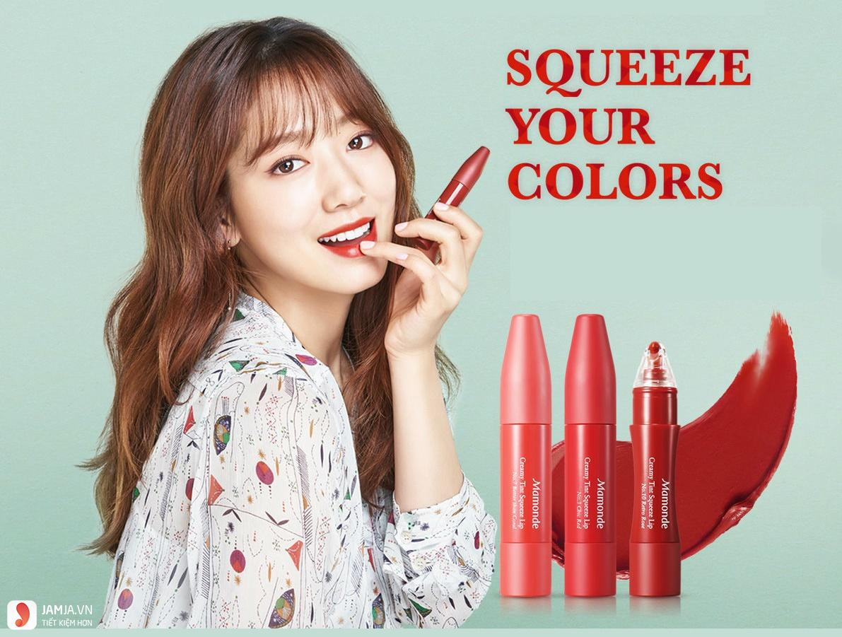 Review chi tiết sonMamonde Creamy Tint Squeeze Lip 6