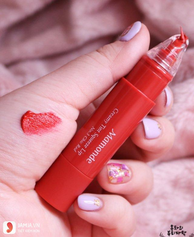 Review chi tiết sonMamonde Creamy Tint Squeeze Lip 7