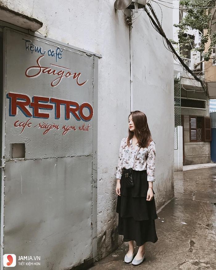 Saigon Retro Cafe check-in, quán cafe view đẹp ở sài gòn