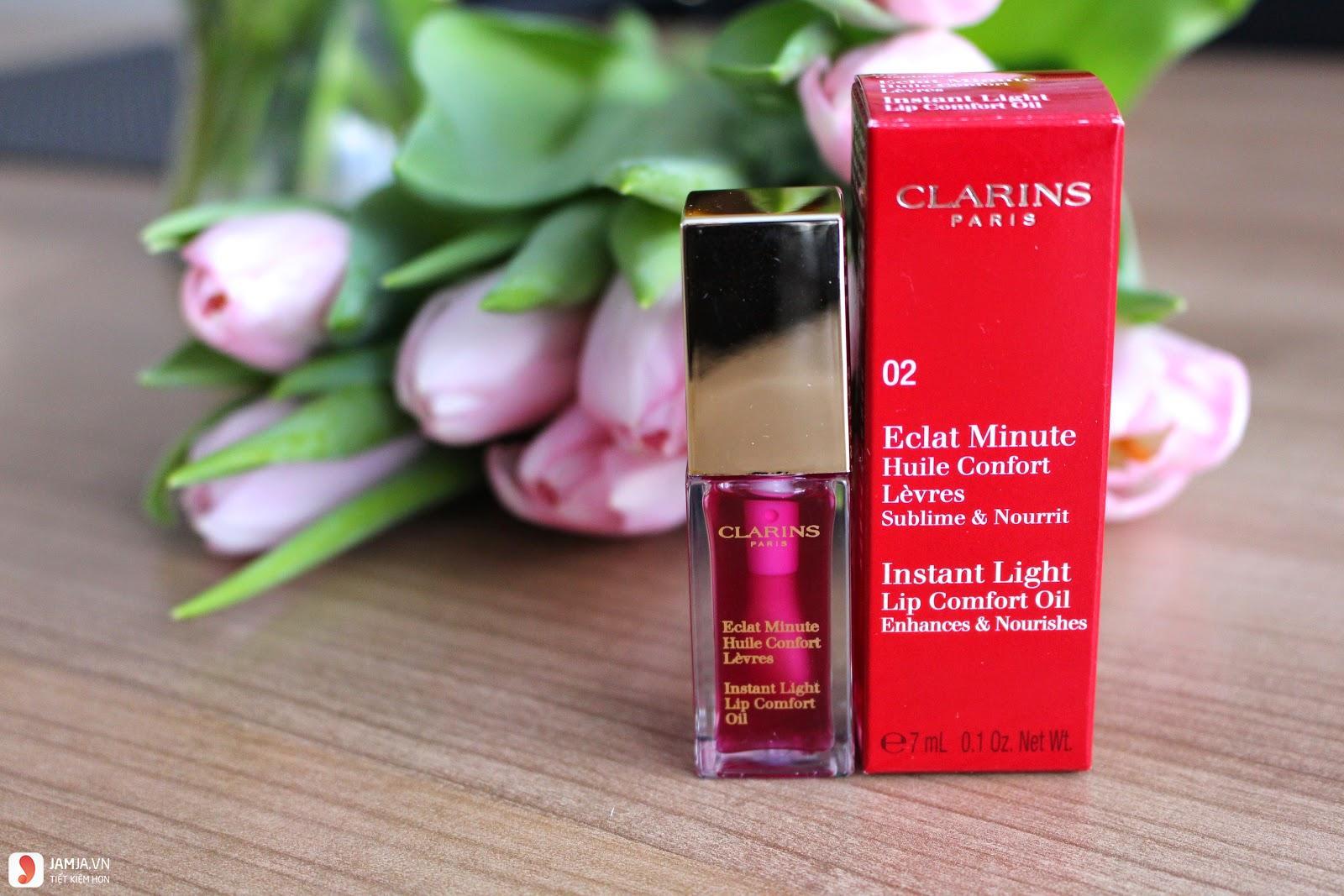 Son dưỡng có màu Clarins Instant Light Lip Comfort Oil