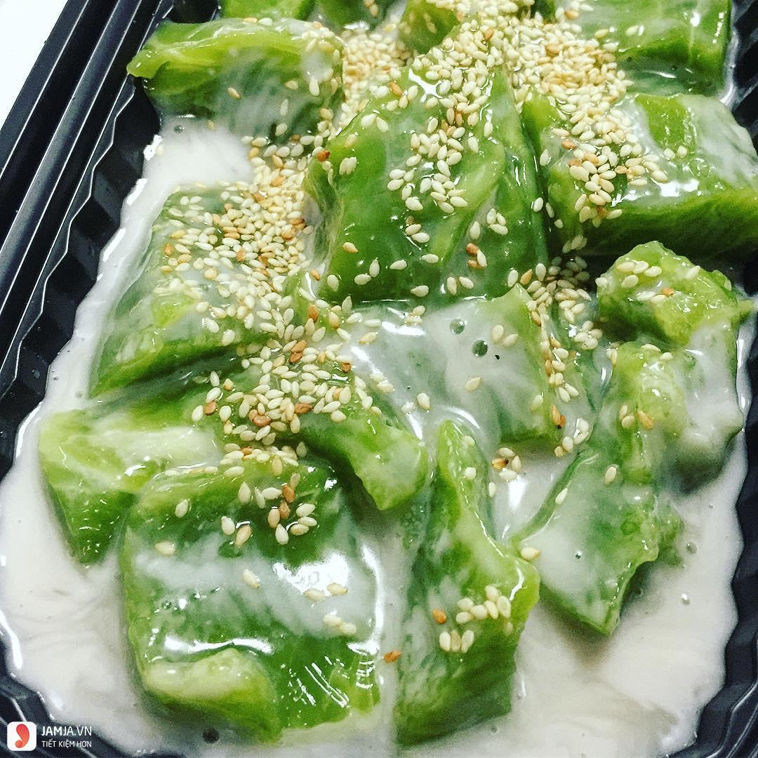 Bánh đúc lá dứa Minh Khai