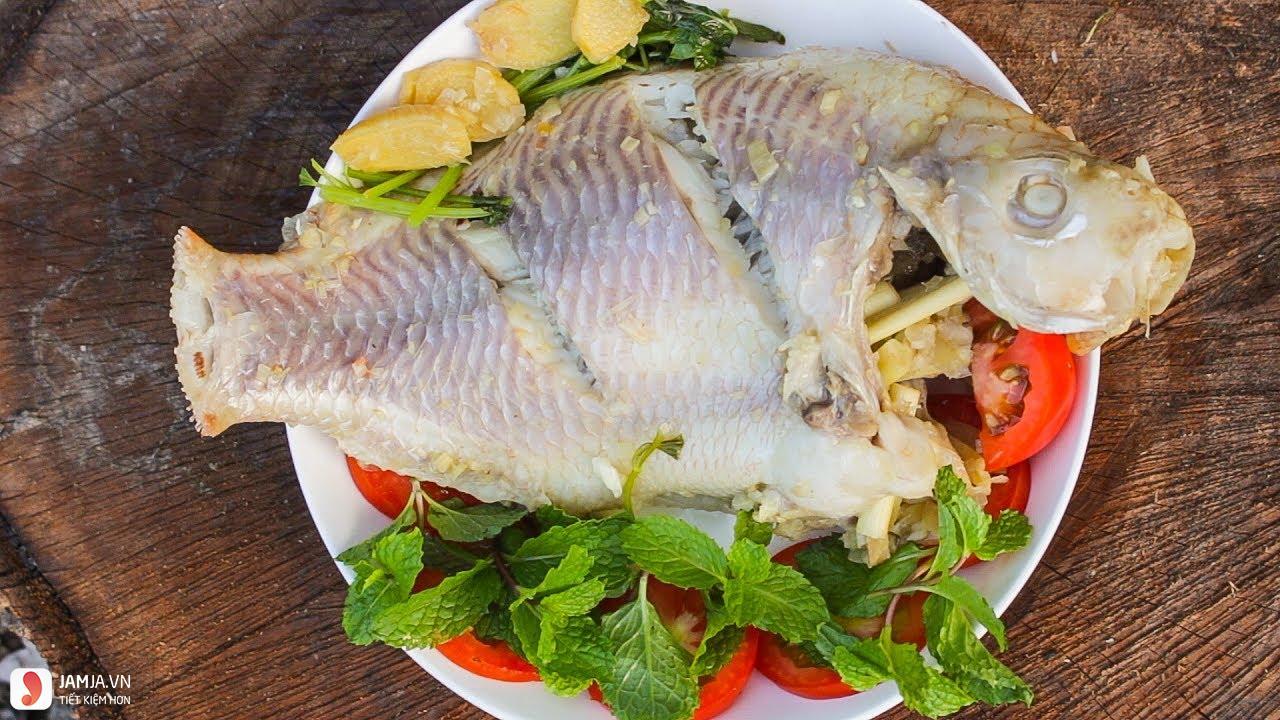 cá diêu hồng hấp cuốn bánh tráng 3