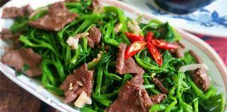 các món xào từ thịt bò 1
