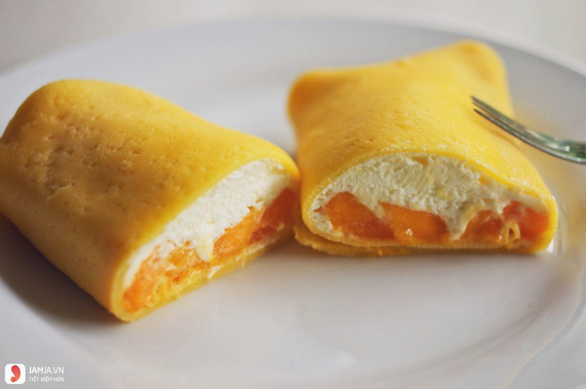 Cách làm bánh crepe xoài 2