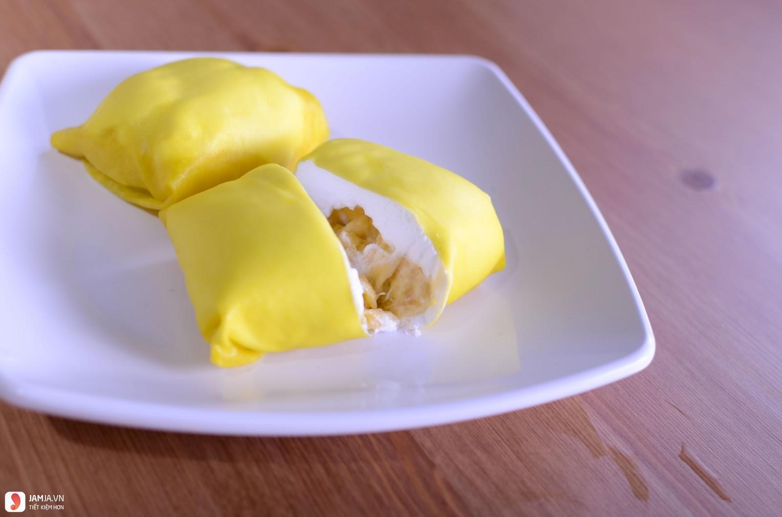 Cách làm bánh crepe sầu riêng 2