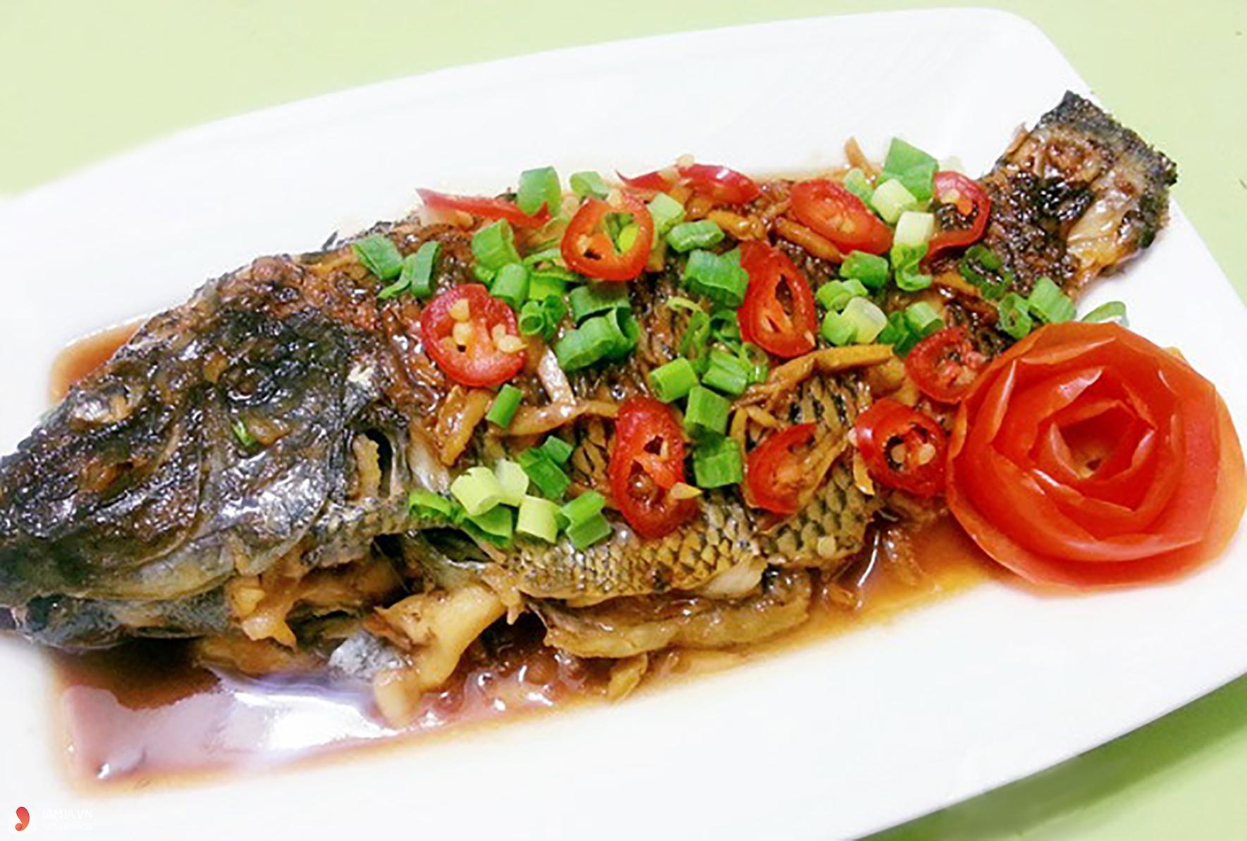 Cách nấu cá rô phi sốt cà chua 2