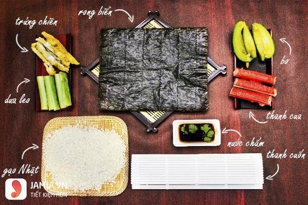 Cách làm sushi Hàn Quốc 1