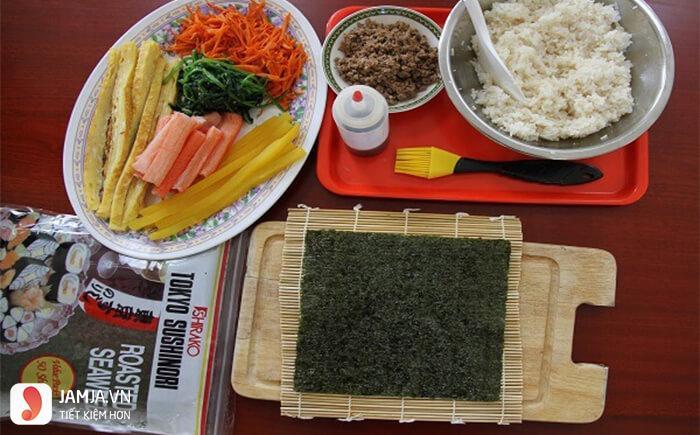 Cách làm sushi kiểu Việt Nam 1