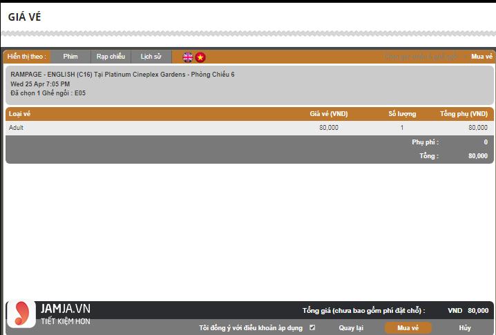 Cách mua vé online tạiPlatinum The Garden - 4