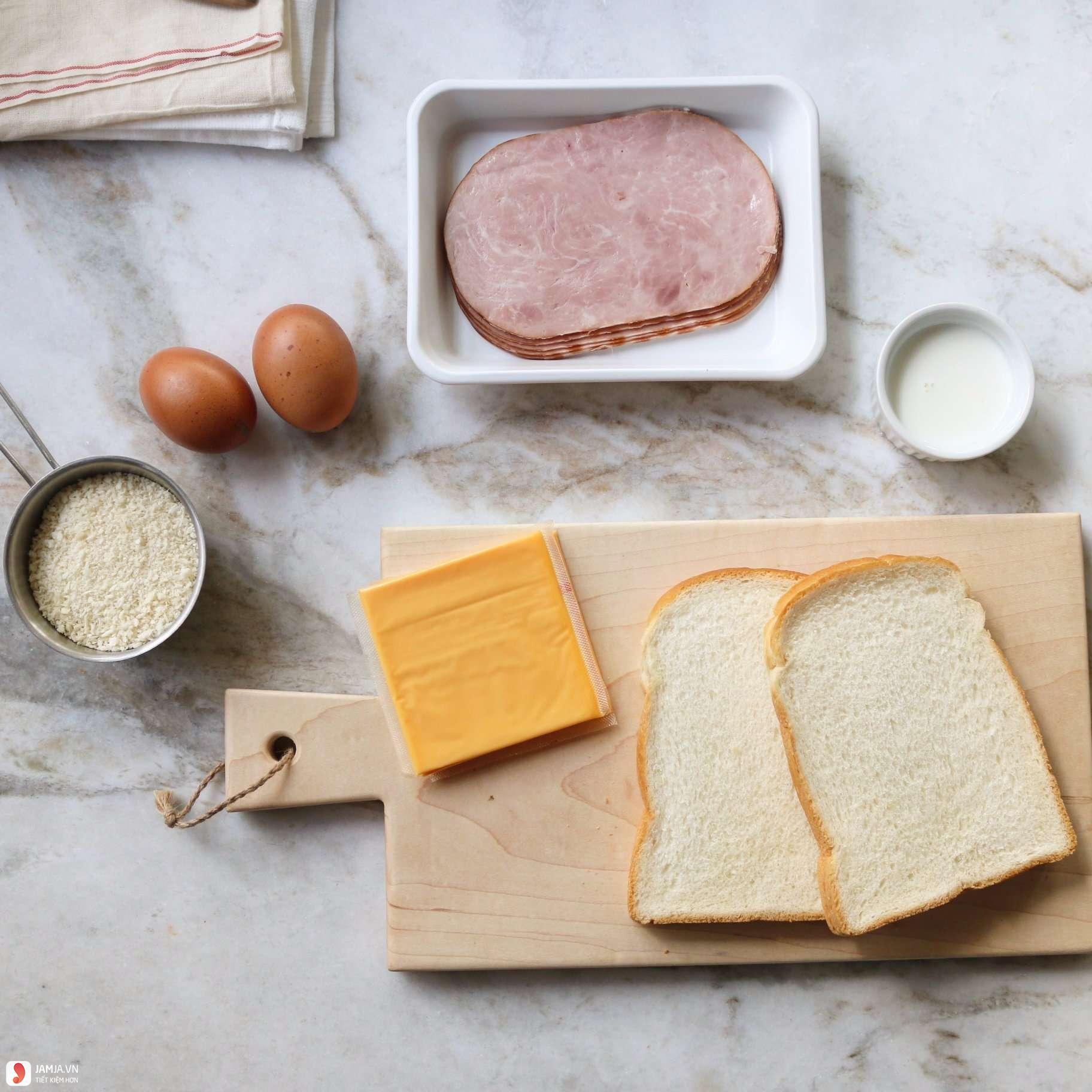 cách làm bánh mì sandwich kẹp trứng 1