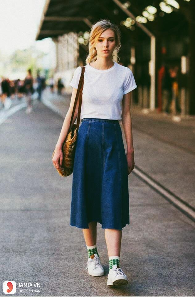 Chân váy jean 2